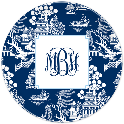 Boatman Geller Chinoiserie Blue Melamine Plate  sc 1 st  Sassafras Paper & Boatman Geller Blue and White Melamine Plate Dishwasher Safe