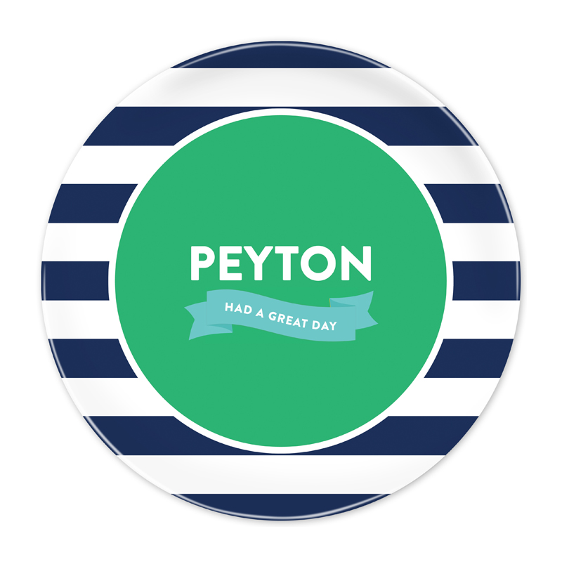 Navy Stripe Great Day Plate - Emily Ley