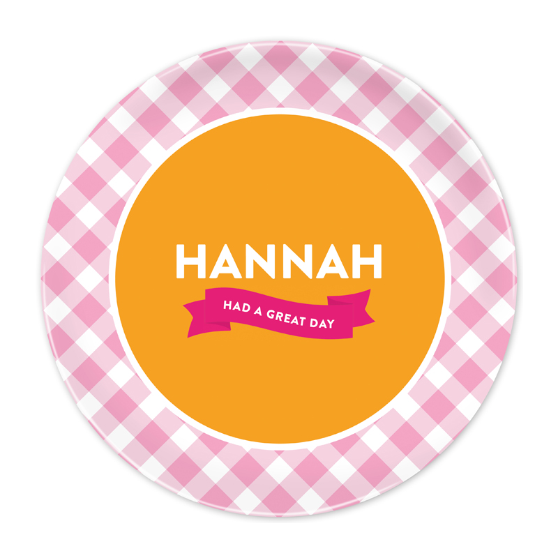 Pink Gingham Great Day Plate - Emily Ley