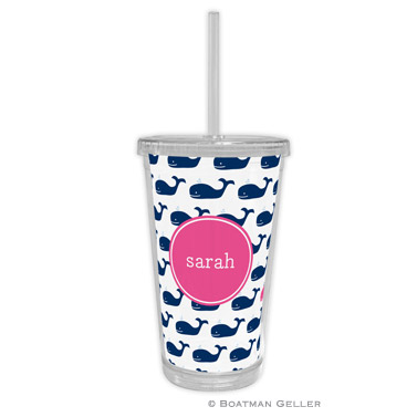 Beverage Tumbler - Whale Repeat Navy