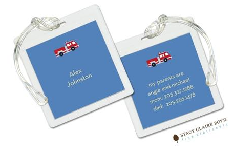 Stacy Claire Boyd Bag Tag (set of 2)  - Three Alarm