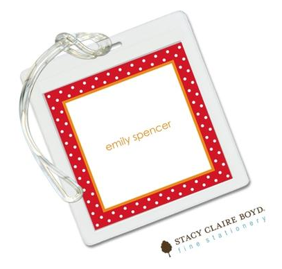 Stacy Claire Boyd Bag Tag (set of 2)  - Balancing Act Red & Orange