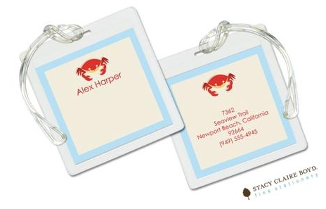 Stacy Claire Boyd Bag Tag (set of 2)  - Beach Party