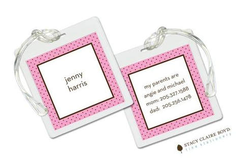 Stacy Claire Boyd Bag Tag (set of 2)  - Here's the Scoop