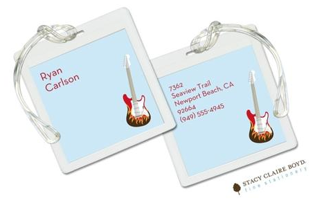 Stacy Claire Boyd Bag Tag (set of 2)  - Let's Rock Blue