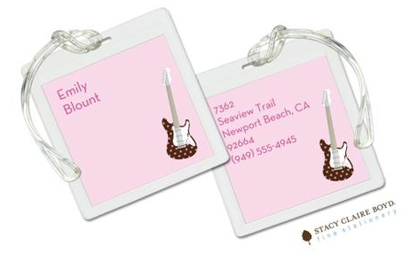 Stacy Claire Boyd Bag Tag (set of 2)  - Let's Rock Pink