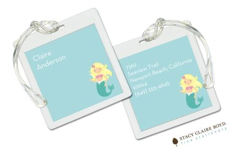 Stacy Claire Boyd Bag Tag (set of 2)  - Mermaid