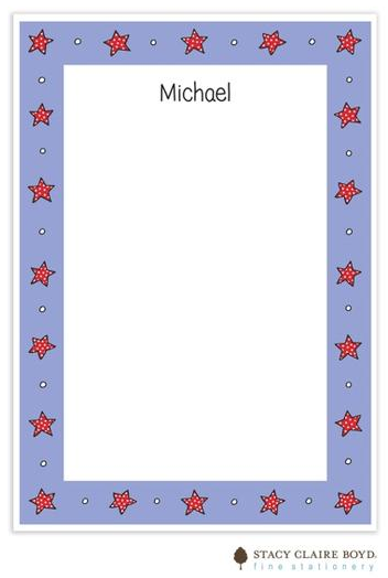 Stacy Claire Boyd Padded Stationery - Blue Dotty Stars