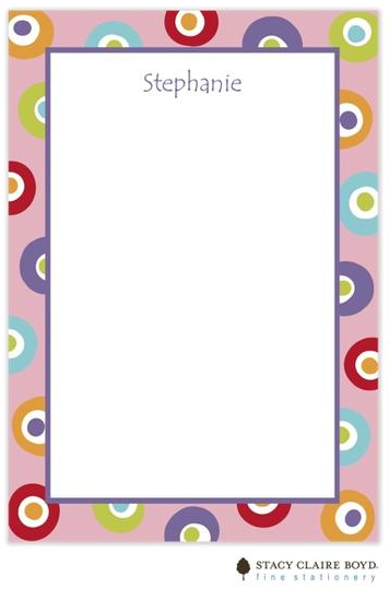Stacy Claire Boyd Padded Stationery - Pink Yo Yo