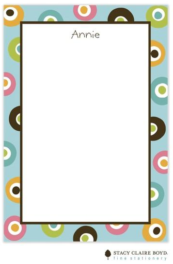 Stacy Claire Boyd Padded Stationery - Aqua Yo Yo