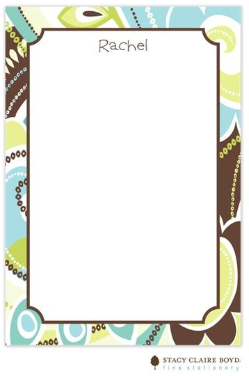 Stacy Claire Boyd Padded Stationery - Tres Chic Teal