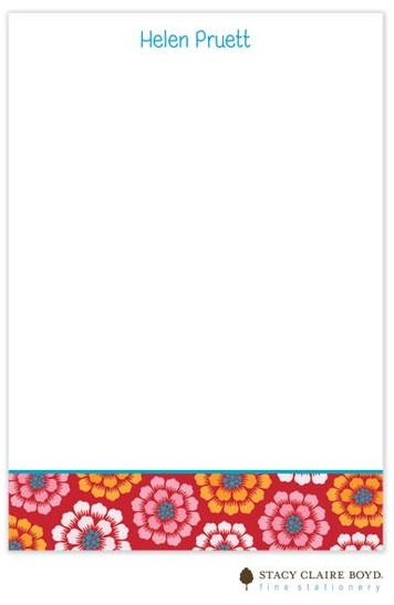 Stacy Claire Boyd Padded Stationery - Scarlett Dahlias