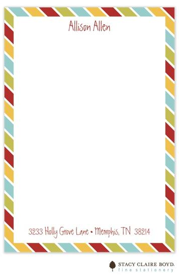 Stacy Claire Boyd Padded Stationery - Candy Apple Necktie