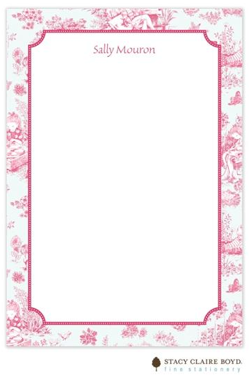 Stacy Claire Boyd Padded Stationery - Fuchsia Toile