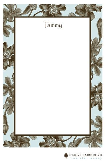 Stacy Claire Boyd Padded Stationery - Baby Blue Botanical