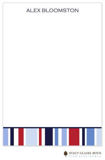 Stacy Claire Boyd Padded Stationery - Nautical Stripe