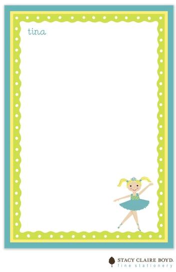 Stacy Claire Boyd Padded Stationery - Tina Ballerina