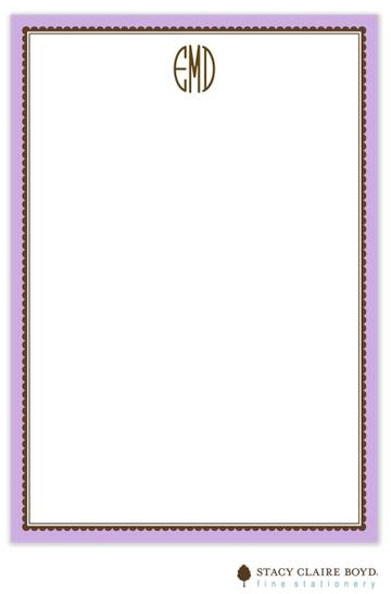 Stacy Claire Boyd Padded Stationery - Lavendar Ruffled Border