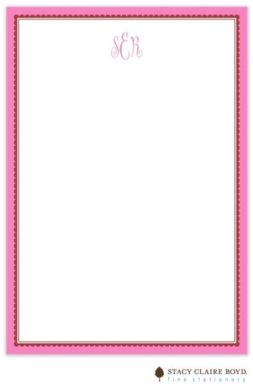 Stacy Claire Boyd Padded Stationery - Hot Pink Ruffled Border
