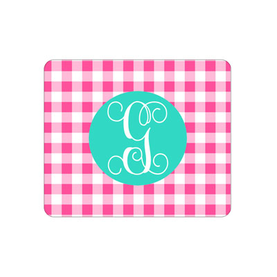 Hot Pink Gingham Mouse Pad