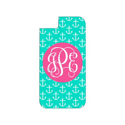 Mint Anchor Phone Case