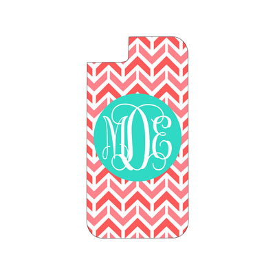 Coral Aztec Phone Case