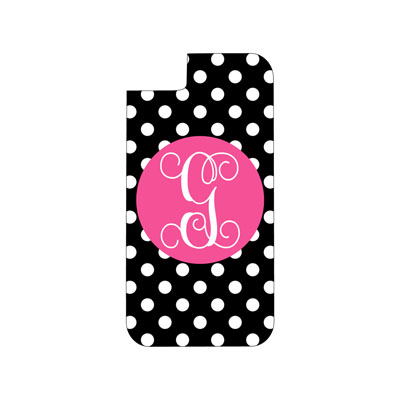Black Dot Phone Case