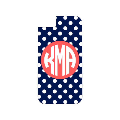 Navy Dot Phone Case