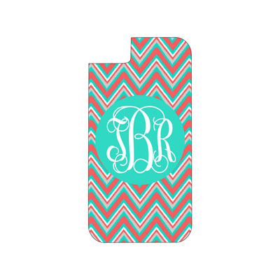 Coral Multi Chevron Phone Case