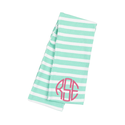 Kids Mint Stripe Infinity Scarf