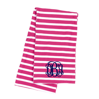 Hot Pink Stripe Infinity Scarf