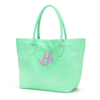 Mint Large Monogrammed Bag