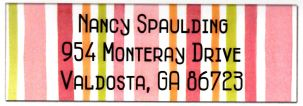 Picture Perfect Stickers - Pink & Orange Stripes