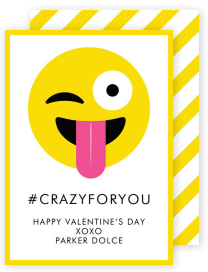 Crazy for You Valentine Card