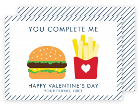 You Complete Me Valentine Card