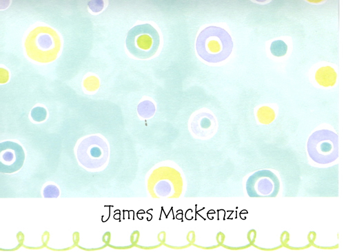 Picture Perfect Blue/Green Dots Folded Note
